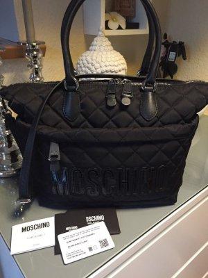 Moschino Tasche Quilted Nylon Satchel Bag
