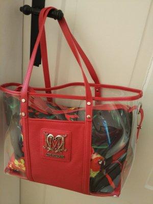 Love Moschino Handtas roodbruin-karmijn kunststof