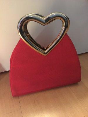 Moschino Tasche rot Herzhenkel