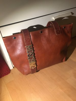 Moschino Tasche Schultertasche Shopper cognac Leder