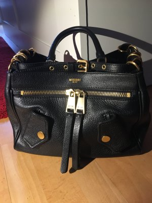 Moschino Tasche schwarz Leder neu mit Rechnung und Staubbeutel