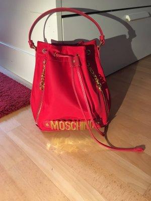Moschino Tasche Shopper Beutel bag rot Nylon/Leder neu mit Rechnung und Staubbeutel