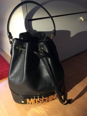 Moschino Tasche Shopper Beutel bag schwarz Leder neu mit Rechnung und Staubbeutel