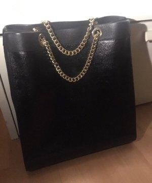 Moschino Tasche Shopper schwarz Leder/Lackleder neuwertig