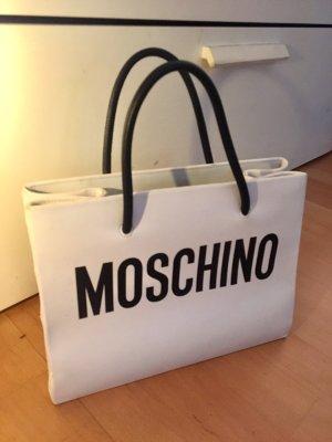 Moschino Handtas wit-zwart