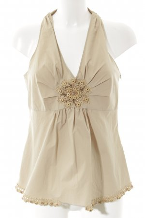 Moschino Trägertop beige Romantik-Look