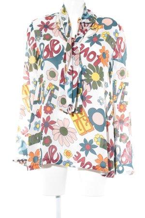 Moschino Transparenz-Bluse Blumenmuster extravaganter Stil
