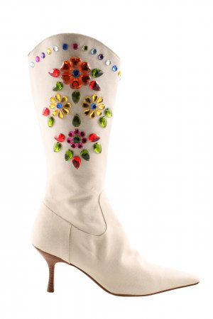 Moschino Western-Stiefeletten Blumenmuster Casual-Look