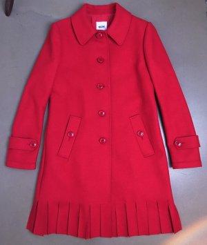 Moschino Cheap and Chic Cappotto in lana rosso scuro-rosso mattone Tessuto misto
