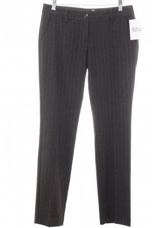 Moschino Woolen Trousers dark brown-white pinstripe business style