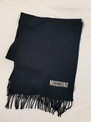 Moschino Bufanda de lana azul oscuro