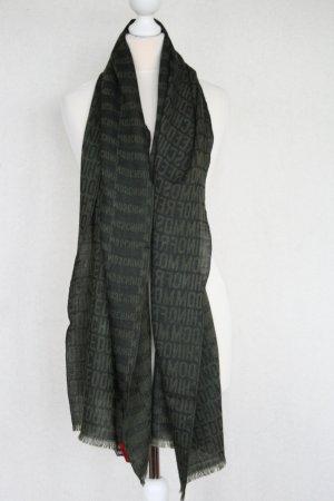 Moschino Wollen sjaal zwart-khaki Wol