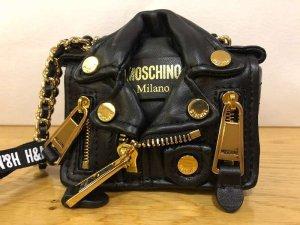 Moschino Mini sac noir-doré cuir