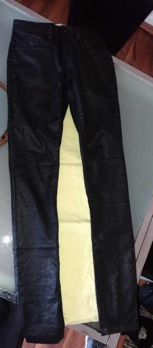 Mos Mosh Leather Trousers black cotton