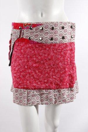 Moshiki Wickelrock rosa-gemustert