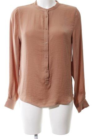 Moss Copenhagen Glanzende blouse bruin casual uitstraling