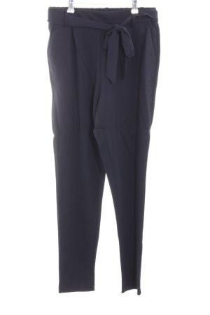 Moss Copenhagen High Waist Trousers dark blue mixture fibre