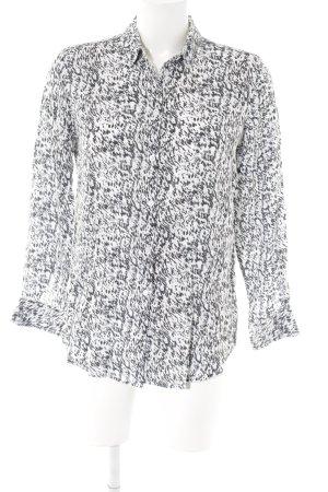 Moss Copenhagen Langarm-Bluse abstrakter Druck Business-Look