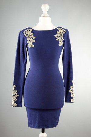 MOTEL Kleid Gr XS von Topshop in blau/gold