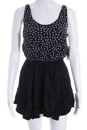 Motel Minikleid schwarz-weiß Punktemuster Casual-Look