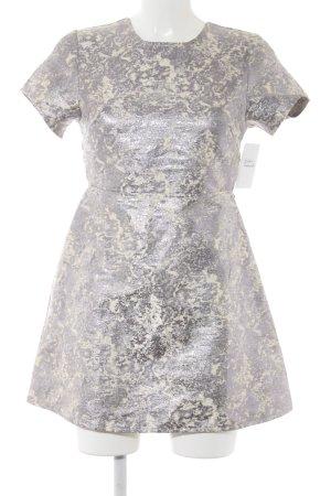 Motel Mini-jurk zilver-room kleurvlekken patroon wetlook