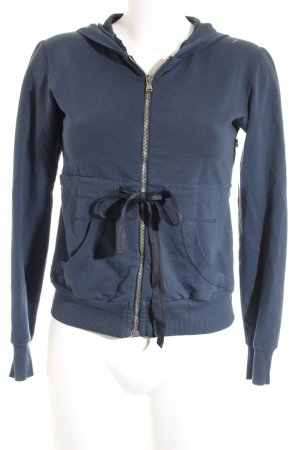 Motel Sweatjacke dunkelblau Casual-Look