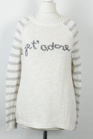 MOTH Pullover Gr.s weiß silber