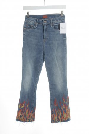 Mother Boot Cut Jeans Motivdruck Street-Fashion-Look