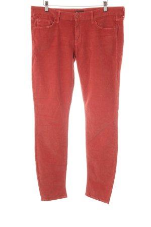 Mother Pantalon en velours côtelé orange foncé style décontracté