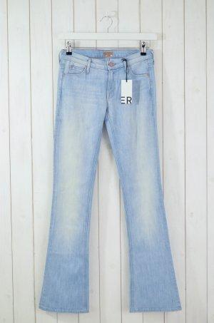 Mother Jeans svasati azzurro Cotone