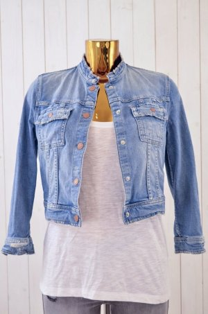 MOTHER Damen Jeansjacke Jacke Mod. Crop Snap Jacket Denim Baumwolle Elastan Gr.S