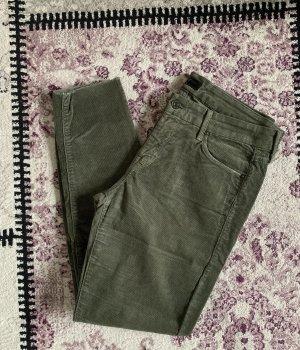 Mother Pantalón de pana gris verdoso-verde oliva