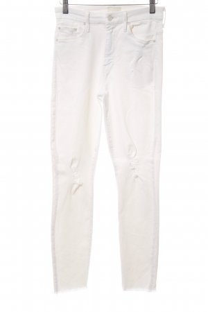 Mother Hoge taille jeans wit tweedehandse uitstraling