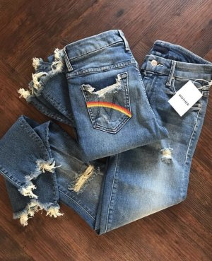 Mother Hoge taille jeans blauw