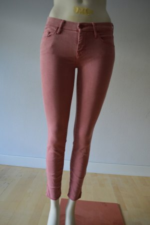Mother 7/8 Length Jeans salmon cotton