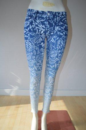 Mother Jeans a sigaretta blu acciaio Cotone