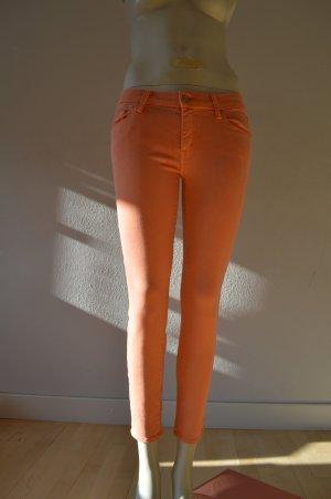 Mother Drainpipe Trousers orange lyocell