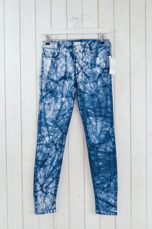 MOTHER Jeans Mod. The Locker col. Blue Eyed Devil Blau Weiß Print Stretch Gr.29