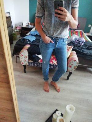 Mother Jeans Slim Fit Skinny Röhre Destroyed