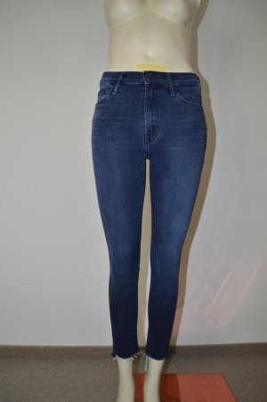 Mother Skinny Jeans blue cotton