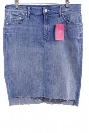 Mother Jeansrock stahlblau Used-Optik