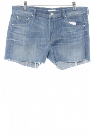 Mother Jeansshorts stahlblau Jeans-Optik