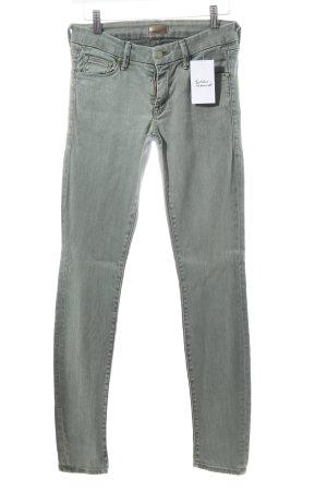 Mother Skinny Jeans grüngrau klassischer Stil