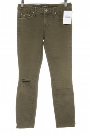 Mother Skinny Jeans olivgrün Casual-Look