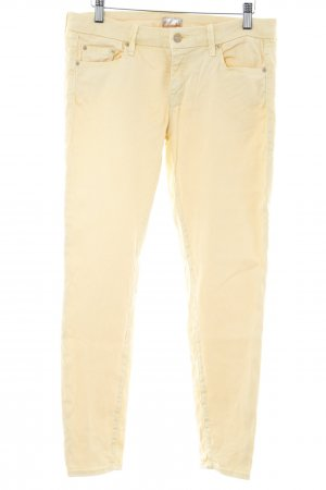 Mother Slim Jeans blassgelb Casual-Look