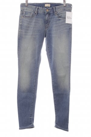 Mother Slim Jeans hellblau Washed-Optik