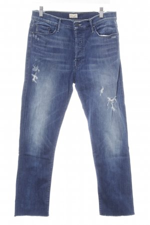 Mother Slim Jeans stahlblau Casual-Look