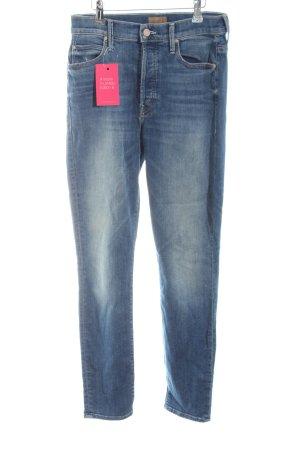 Mother Slim Jeans steel blue casual look