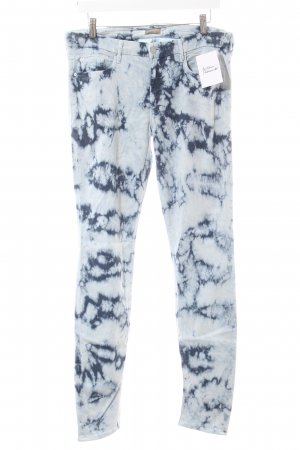 Mother Straight-Leg Jeans dunkelblau-weiß Batikmuster extravaganter Stil