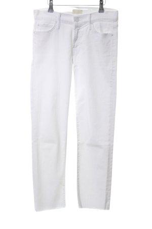 Mother Straight-Leg Jeans wollweiß Street-Fashion-Look